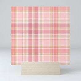 Pink Plaid Mini Art Print