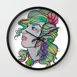 Jelly Mermaid Wall Clock