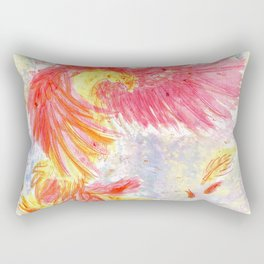 Firey Phoenix Rectangular Pillow