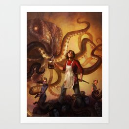 The Mall of Cthulhu Art Print