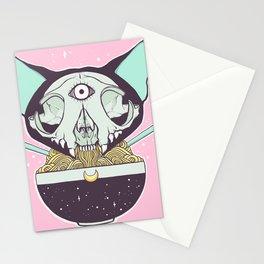 Cat Skull Ramen Noodles Anime Artwork Stationery Cards