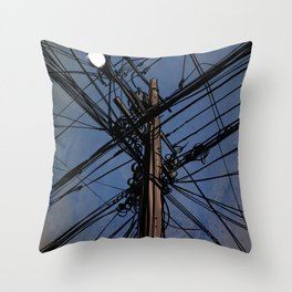 wires 02 Throw Pillow