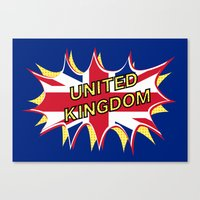 union jack Canvas Prints featuring Union Jack by mailboxdisco