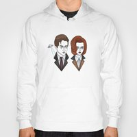 dana scully Hoodies featuring mulder and scully by Bunny Miele