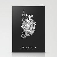 amsterdam Stationery Cards featuring AMSTERDAM by Nicksman