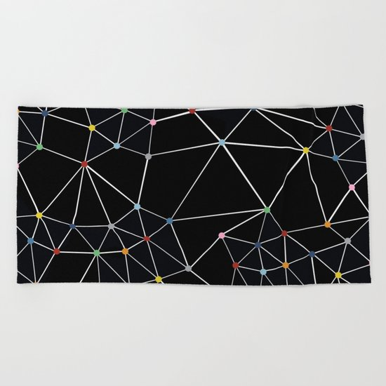Seg with Color Spots Beach Towel