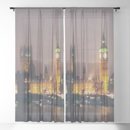 down by the thames ... Sheer Curtain