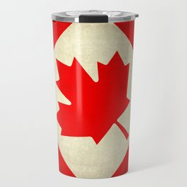 Canadian flag, vintage treated edition in square format to suit pillows, duvets, shower.....etc Travel Mug
