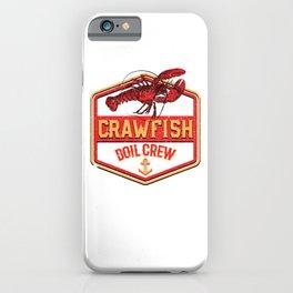 Crawfish Boil Crew Cajun Seafood Festival Vintage Cooking iPhone Case