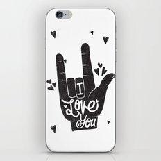 LOVING HAND iPhone & iPod Skin