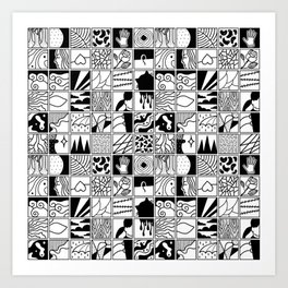 extraordinary spaces - pattern Art Print