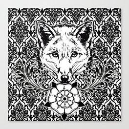fox damask Canvas Print