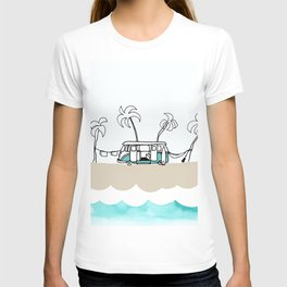 Surfer Van - Surf Art - Gone Surfing T-shirt