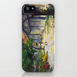 1887 - Gauguin - Village in Martinique (Femmes et Chevre dans le village) iPhone Case