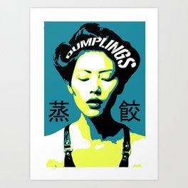 Dumplings - Azul Art Print