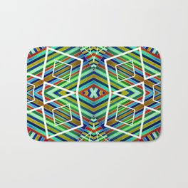 Colorful Geometric Tribal Abstract Pattern Style  Bath Mat