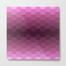 Purple Honeycombs Metal Print