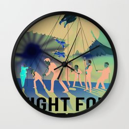 Fight for Freedom Wall Clock