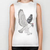 hawk Biker Tanks featuring hawk by talltree
