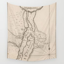 Vintage Map of St Augustine FL (1764) Wall Tapestry