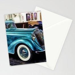 Vintage 1934 Hupmobile Aerodynamic Painting Stationery Cards
