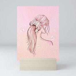 Dotsy Scrunchie Mini Art Print