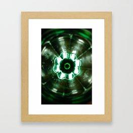 Looking Glass - Green Framed Art Print