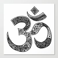 ohm Canvas Prints featuring Ohm by Cynthia Nyongesa