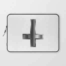 An inverted cross- The Cross of Saint Peter used as an anti-Christian and Satanist symbol Laptop Sleeve