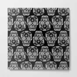 Caveira black  Metal Print
