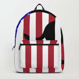 US Flag Patriotic Labrador Backpack