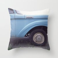 ford Throw Pillows featuring ford by auntie loren