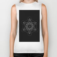 sacred geometry Biker Tanks featuring Sacred Geometry Print 4 by poindexterity