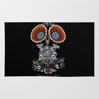 mexican Area & Throw Rugs featuring Mexican Owl by Msimioni
