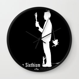 One Sixth Ism (White Statue) Wall Clock