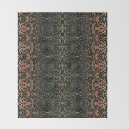 ornate rug Throw Blanket