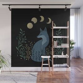 Fox on the Hill Wall Mural