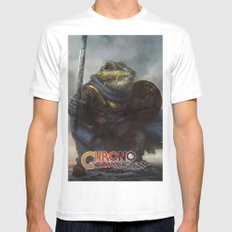 A knightly Frog  MEDIUM Mens Fitted Tee White