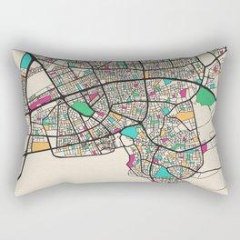 Colorful City Maps: Antalya, Turkey Rectangular Pillow