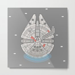 Millennium Falcon Vector Illustration Metal Print