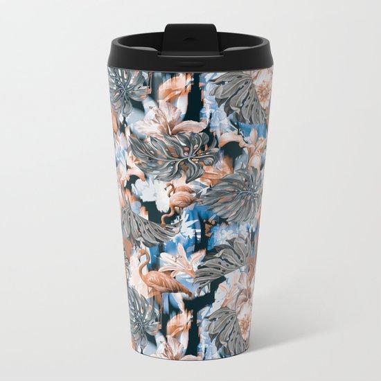 Tropical Pattern Metal Travel Mug
