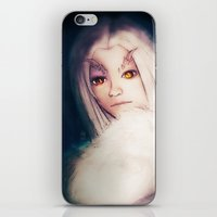 dark souls iPhone & iPod Skins featuring Priscilla [Dark Souls] by JeyJey Artworks
