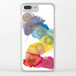 7 Chakras Watercolour Painting Clear iPhone Case