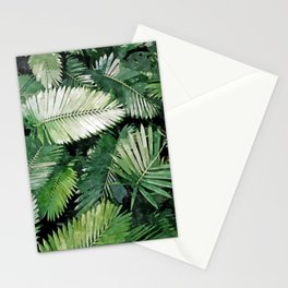 Life Is Better With Palm Trees, Tropical Nature Jungle Painting, Watercolor Nature Bohemian Plants Stationery Cards