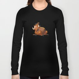 Slipping Timon and Pumbaa Long Sleeve T-shirt