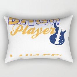 Bass Player Guitar Music Coffee Lover Vintage Gift Rectangular Pillow