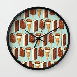 Ice Cream Pattern - Popsicles Wall Clock