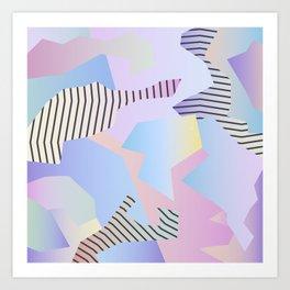 Abstract gradient 2 Art Print