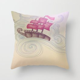 Hit The High Seas Throw Pillow