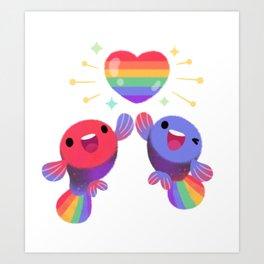 Rainbow guppy 4 Art Print